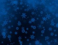 Weihnachtshintergrundblau Lizenzfreies Stockfoto