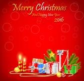 Weihnachtshintergrunddekorationen Lizenzfreie Stockfotos