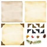 Weihnachtshintergrundelemente Stockbilder