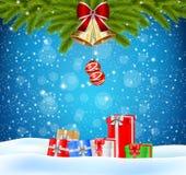Weihnachtshintergrundgeschenk Lizenzfreies Stockfoto