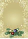 Weihnachtshintergrundgold Lizenzfreie Stockfotografie