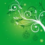 Weihnachtshintergrundgrün Lizenzfreie Stockfotografie
