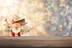 Weihnachtshintergrundillustration von lustigem Weihnachtsmann und von rotem n Lizenzfreie Stockbilder