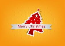 Weihnachtshintergrundkennsatz Lizenzfreies Stockfoto