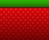 Weihnachtshintergrundrot und Farbbandgrün Stockfoto