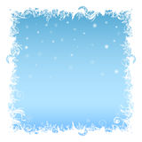 Weihnachtshintergrundschneeflocken mit Lichtern - Illustration Lizenzfreie Stockfotografie