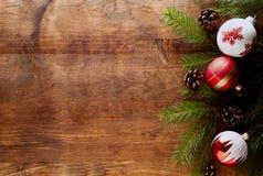 Weihnachtsholzhintergrund Lizenzfreie Stockfotografie