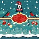 Weihnachtshorizontaler Fahnenhintergrund Stockfoto