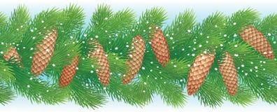 Weihnachtshorizontaler nahtloser Hintergrund Stockfotografie