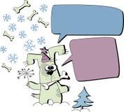 Weihnachtshund lizenzfreie abbildung