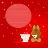 Weihnachtshund Lizenzfreies Stockfoto