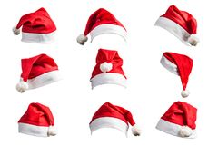 Weihnachtshut auf weißem Hintergrund Lizenzfreies Stockbild