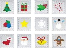 Weihnachtsikonen lizenzfreie abbildung