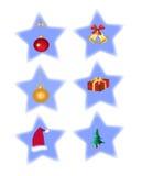 Weihnachtsikonen vektor abbildung