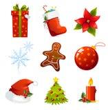 Weihnachtsikonen Stockfotos