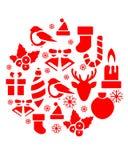 Weihnachtsikonen-Ball Lizenzfreie Stockbilder