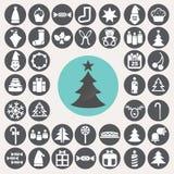 Weihnachtsikonen eingestellt Stockfotos