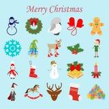 Weihnachtsikonen eingestellt lizenzfreie abbildung