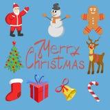 Weihnachtsikonen eingestellt Stockfoto