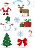 Weihnachtsikonen eingestellt worden Stockbilder
