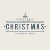 Weihnachtsikonen eingestelltes Emblem Stockfoto