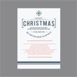 Weihnachtsikonen eingestelltes Emblem Lizenzfreie Stockbilder