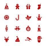 Weihnachtsikonen. Jede Ikone ist ein einzelner Gegenstand Stockfotos
