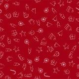Weihnachtsikonen-nahtloses Muster Stockbild
