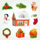 Weihnachtsikonen-Set Lizenzfreie Stockfotos