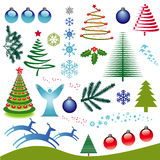 Weihnachtsikonen-Set Stockbilder