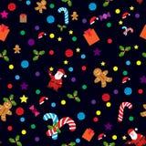 Weihnachtsikonen- und -aufkleberweihnachtsbaum, Stern, Schneeflocke, Glocken, Ball, Schneemann, Stechpalme, S??igkeit, Geschenkve vektor abbildung