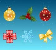 Weihnachtsikonen. Vektor Stockbilder