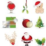Weihnachtsikonenset lizenzfreie abbildung