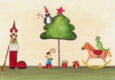 Weihnachtsillustration Stockbild