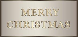 Weihnachtsillustration in der goldenen Farbe Lizenzfreies Stockfoto