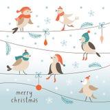 Weihnachtsillustration, Weihnachtskarte Lizenzfreie Stockfotografie