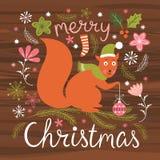 Weihnachtsillustration, Weihnachtskarte Lizenzfreie Stockfotos