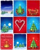 Weihnachtsillustrationen eingestellt Stockbilder