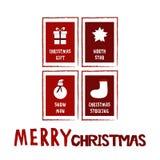 Weihnachtsillustrationskarte Stockfotografie