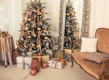 Weihnachtsinnenraum Stockfoto