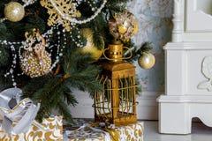 Weihnachtsinnenraumhintergrund Lizenzfreie Stockbilder
