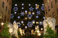 Weihnachtsjahreszeit in New York stockfotos