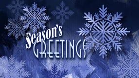 Weihnachtsjahreszeit ` s Gruß-Feiertagsmitteilung mit Schneeflocke orna Stockfotos