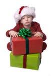 Weihnachtsjunge Lizenzfreies Stockbild