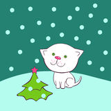 Weihnachtskätzchen Vektor Abbildung