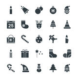 Weihnachtskühle Vektor-Ikonen 1 Lizenzfreie Stockfotos