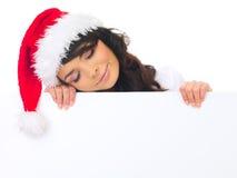 Weihnachtsküken mit Vorstand Stockbilder