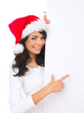Weihnachtsküken mit Vorstand Stockfotos