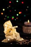 Weihnachtskaffeebohnen Stockfoto