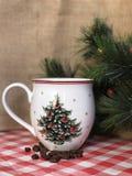 Weihnachtskaffeetasse Stockbild